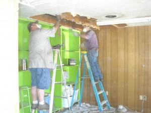 Pulling insulation